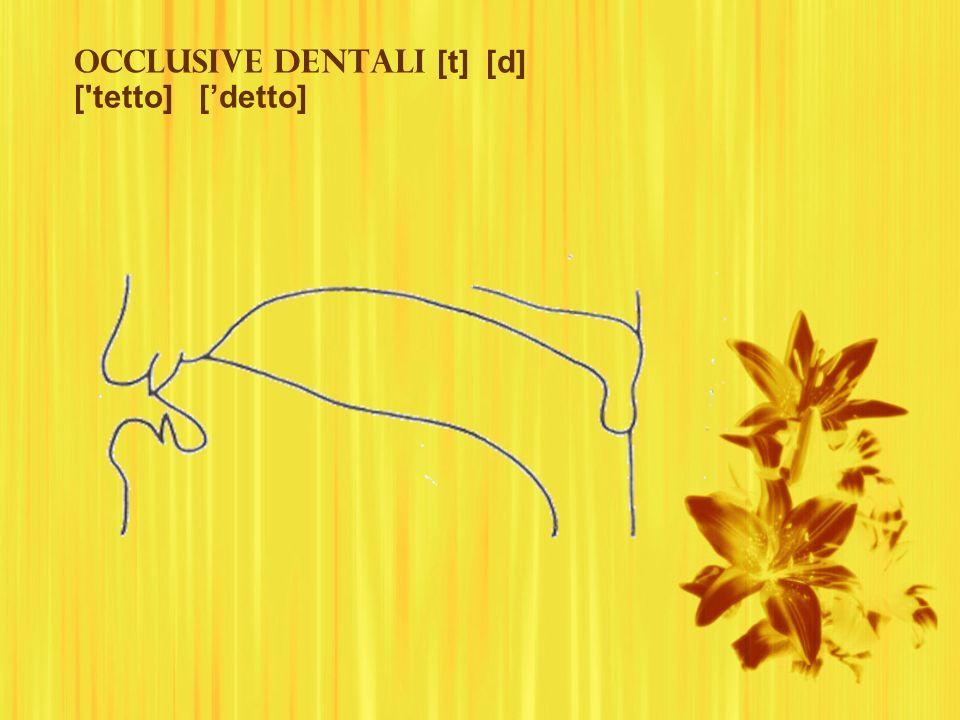 Occlusive dentali [t] [d] [ tetto] ['detto]